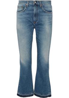 rag & bone Vintage Crop frayed high-rise flared jeans