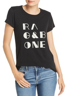 rag & bone Vintage Flocked Logo Tee