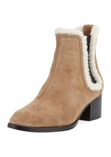 Rag & Bone Walker Fur-Trim Suede Boot