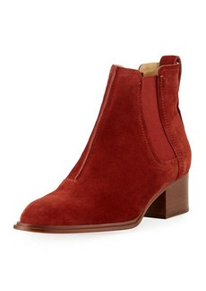 Rag & Bone Walker Suede Block-Heel Chelsea Boot