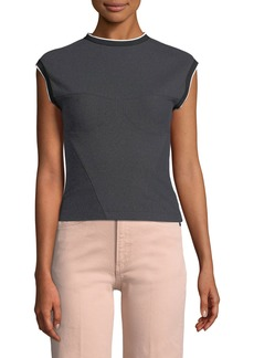 Rag & Bone Watts High-Neck Sleeveless Engineered Top
