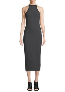 Rag & Bone Watts Racerback Engineered Knit Midi Dress