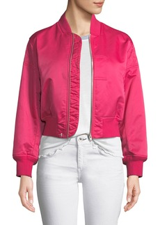 Rag & Bone Wesley Cropped Bomber Jacket