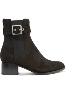 rag & bone Wilson buckled suede ankle boots