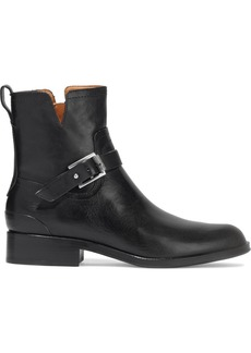 Rag & Bone Woman Abel Buckled Leather Ankle Boots Black