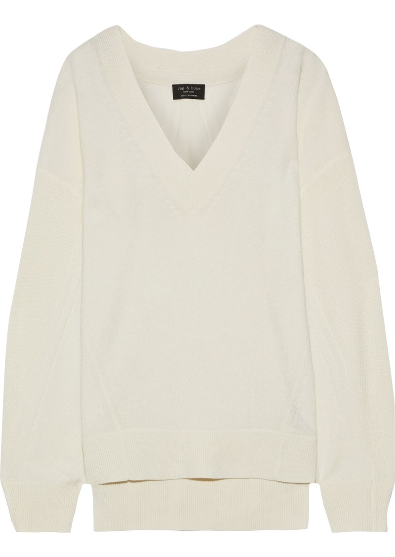 Rag & Bone Woman Ace Cashmere Sweater Ecru