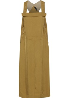 Rag & Bone Woman Adrian Button-detailed Crinkled-twill Midi Dress Sage Green