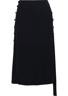 Rag & Bone Woman Adrian Button-detailed Twill Midi Skirt Black