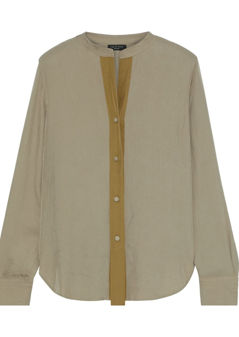 Rag & Bone Woman Adrian Twill Shirt Mushroom