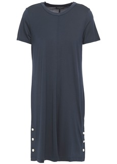 Rag & Bone Woman Allegra Button-detailed Jersey Mini Dress Storm Blue