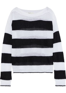 Rag & Bone Woman Allie Striped Open-knit Sweater White