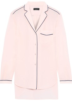 Rag & Bone Woman Alyse Washed-silk Shirt Baby Pink