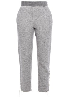 Rag & Bone Woman Amelia Lace-up French Cotton-terry Track Pants Gray