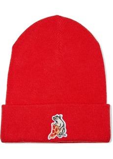 Rag & Bone Woman Appliquéd Knitted Beanie Red