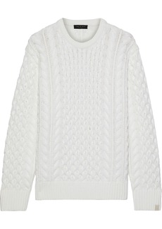 Rag & Bone Woman Aran Cable-knit Merino Wool-blend Sweater Ivory