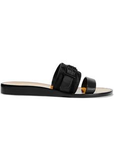 Rag & Bone Woman Arley Buckled Nubuck And Leather Sandals Black