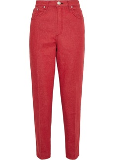 Rag & Bone Woman Ash High-rise Tapered Jeans Tomato Red