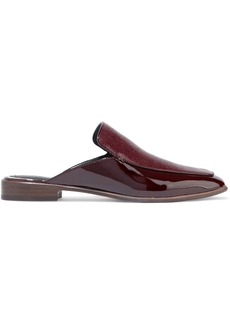 Rag & Bone Woman Aslen Stingray-effect And Patent-leather Slippers Burgundy