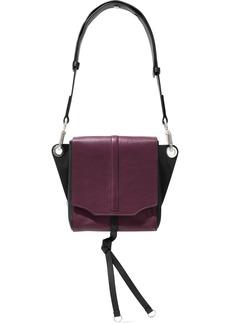 Rag & Bone Woman Aston Convertible Two-tone Leather Shoulder Bag Plum