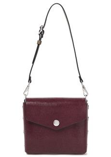 Rag & Bone Woman Atlas Snap-detailed Glossed Stringray-effect Leather Shoulder Bag Burgundy