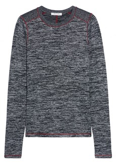 Rag & Bone Woman Avryl Marled Jersey Top Black