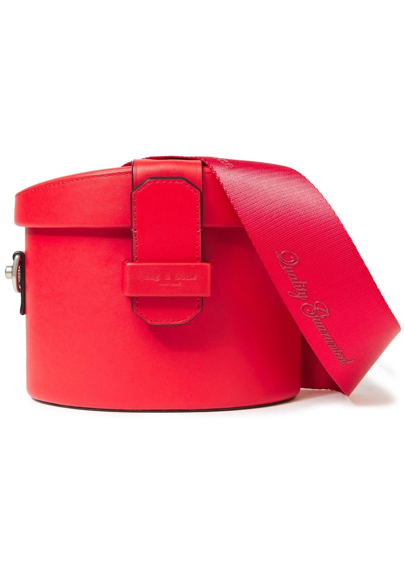 Rag & Bone Woman Barrow Leather Shoulder Bag Red