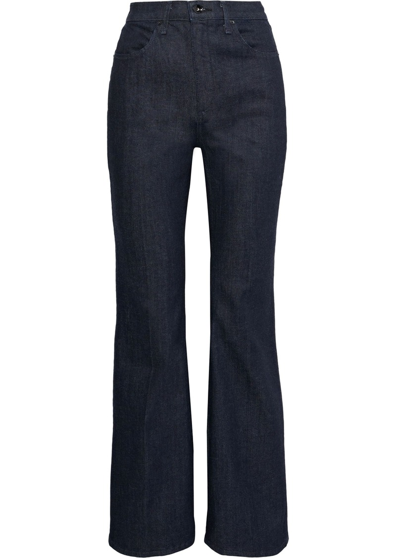 Rag & Bone Woman Bella High-rise Flared Jeans Dark Denim