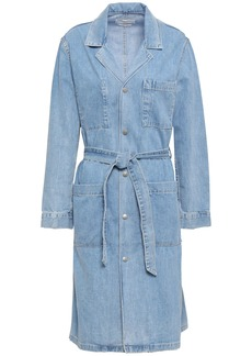 Rag & Bone Woman Belted Denim Jacket Light Denim