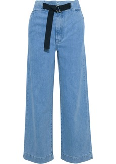 Rag & Bone Woman Belted High-rise Straight-leg Jeans Light Denim