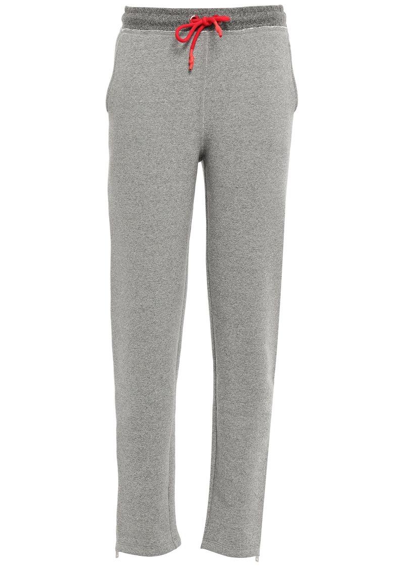 Rag & Bone Woman Best Mélange Cotton-blend Fleece Track Pants Light Gray