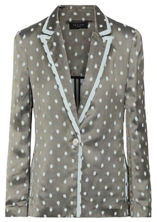 Rag & Bone Woman Bonnie Satin-jacquard Blazer Grey Green