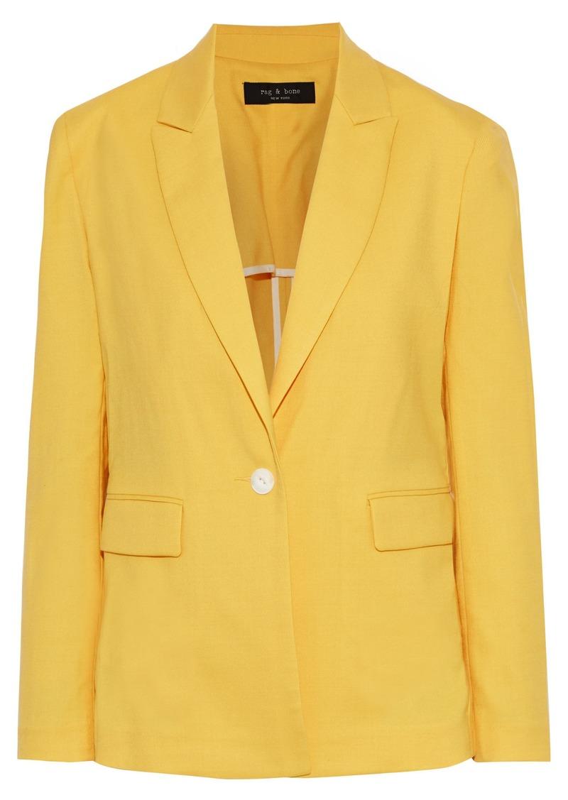 Rag & Bone Woman Bonnie Wool-blend Twill Blazer Yellow