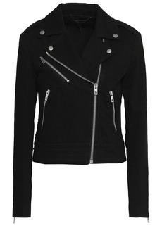 Rag & Bone Woman Bowery Denim Biker Jacket Black