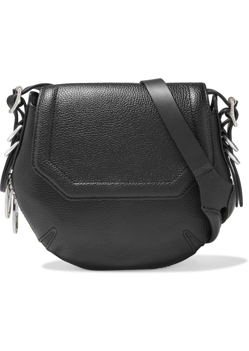 Rag & Bone Woman Bradbury Mini Zip-detailed Pebbled-leather Shoulder Bag Black