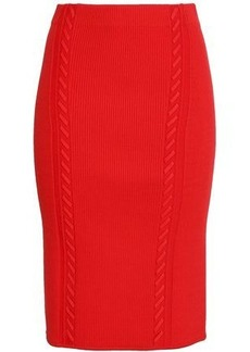 Rag & Bone Woman Brandy Ribbed-knit Pencil Skirt Red