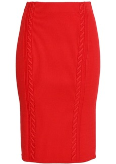 Rag & Bone Woman Brandy Ribbed-knit Pencil Skirt Red