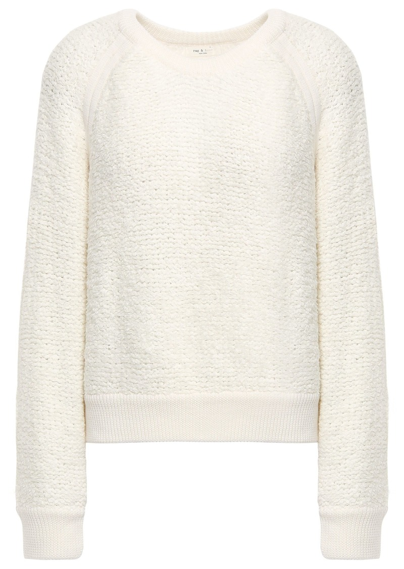 Rag & Bone Woman Brooke Bouclé-knit Sweater Ivory