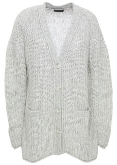 Rag & Bone Woman Brushed Ribbed-knit Cardigan Light Gray