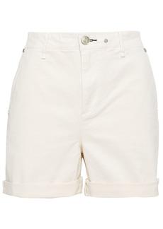 Rag & Bone Woman Buckley Cotton-blend Twill Shorts Ecru