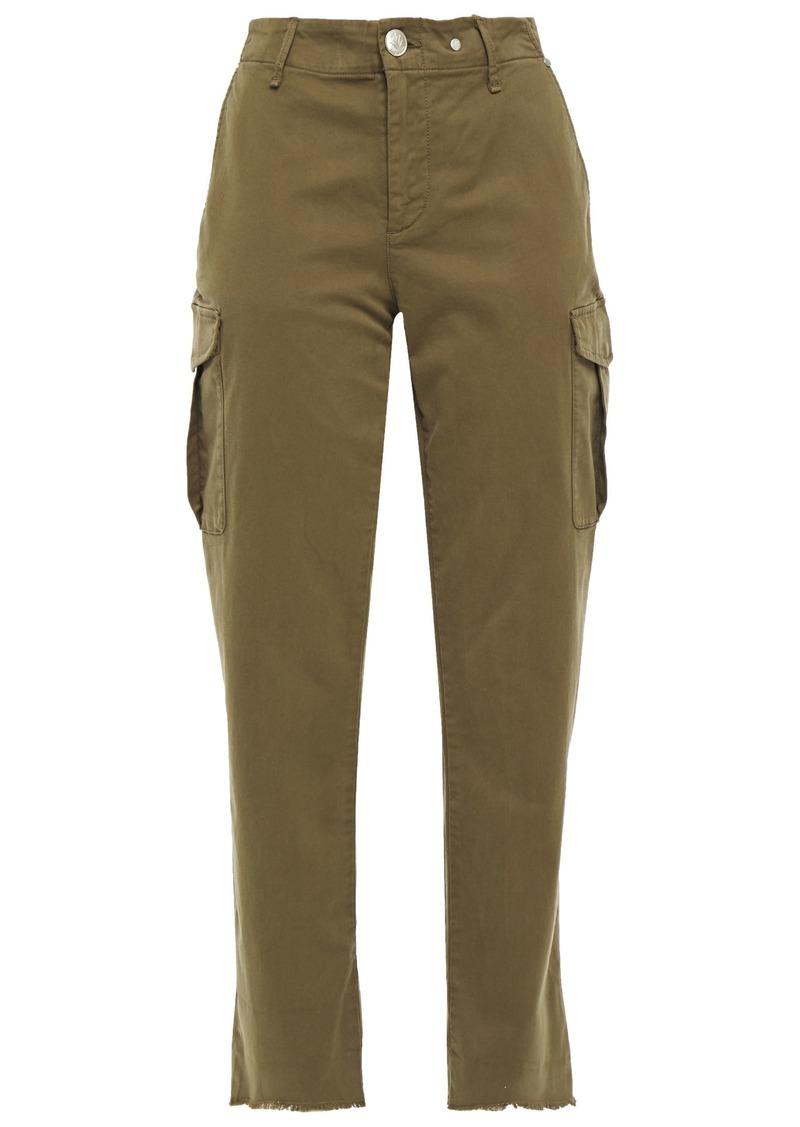 Rag & Bone Woman Buckley Stretch-cotton Twill Straight-leg Pants Army Green