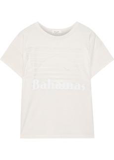 Rag & Bone Woman Appliquéd Burnout Cotton-blend Jersey T-shirt White