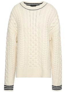 Rag & Bone Woman Cable-knit Wool Sweater Ivory