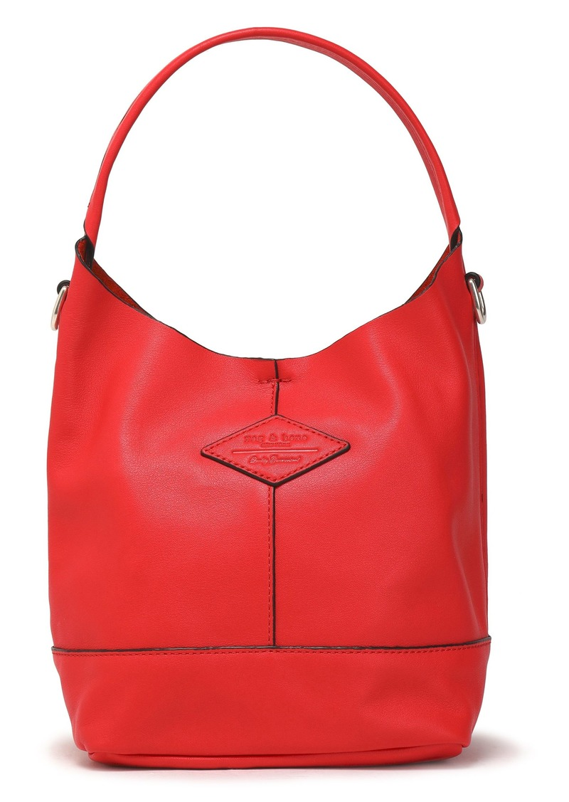 Rag & Bone Woman Camden Mini Leather Tote Red