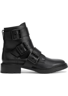 Rag & Bone Woman Cannon Buckled Leather Ankle Boots Black