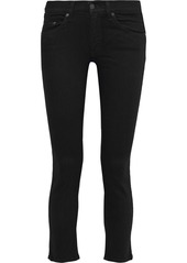 Rag & Bone Woman Capri Cropped Low-rise Skinny Jeans Black