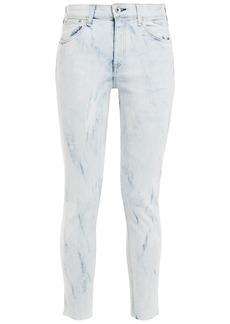 Rag & Bone Woman Cate Cropped Bleached Mid-rise Skinny Jeans Light Denim