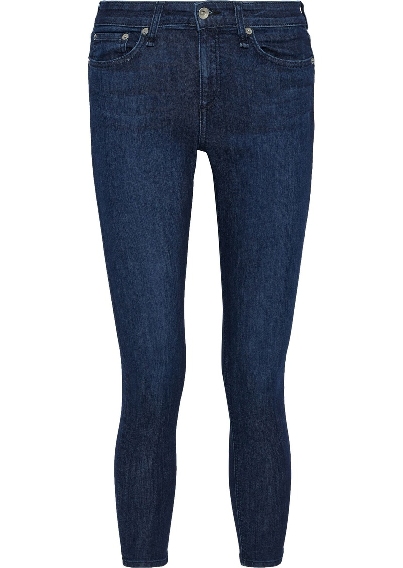 Rag & Bone Woman Cate Mid-rise Skinny Jeans Dark Denim
