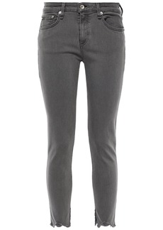 Rag & Bone Woman Cate Mid-rise Skinny Jeans Gray