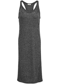 Rag & Bone Woman Clara Marled Waffle-knit Dress Charcoal