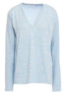 Rag & Bone Woman Clara Mélange Jersey Sweater Light Blue